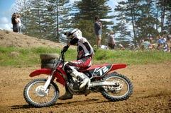 Dirt Rider. Rider racing a dirt bike Stock Photography