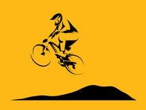Dirt rider jump Stock Image