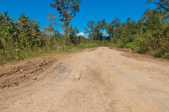 Dirt road. In remote area royalty free stock image