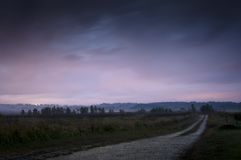Dirt Road. Early morning pre dawn shot of a dirt road in the midwest Royalty Free Stock Photography