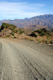Dirt Road. A dirt road through the Simien mountains in Ethiopia Stock Photo
