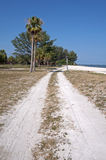 Dirt road alongside a beach Royalty Free Stock Photography