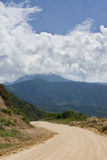 Dirt Road in the Andes. Mountains, Ecuador stock photos