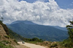 Dirt Road in the Andes. Mountains, Ecuador royalty free stock photo