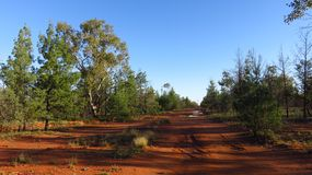 """Dirt Road in the Australian Outback. Dirt road nicknamed """"Parramatta Road"""" in the Australian Outback near Grawin Stock Photography"""