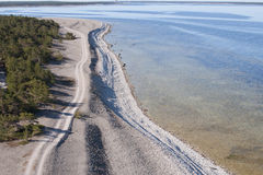 Dirt road and beach Royalty Free Stock Photo