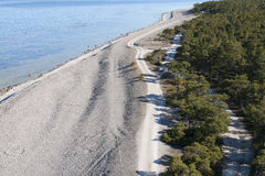 Dirt road and beach Stock Photography
