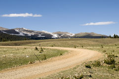 Dirt Road on BigHorn Mountains Royalty Free Stock Image
