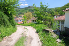 Dirt Road in Bulgarian Village Stock Photography