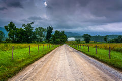 Dirt road at Cade's Cove in the morning Royalty Free Stock Photography