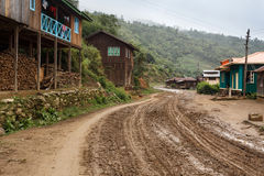 Dirt Road in Chin State, Myanmar Royalty Free Stock Photo
