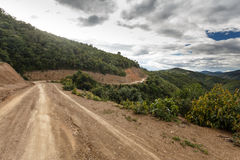 Dirt Road in Chin State, Myanmar Stock Photos