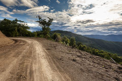 Dirt Road in Chin State, Myanmar Stock Photography