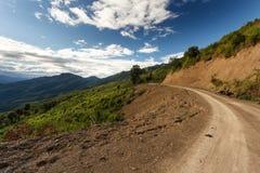 Dirt Road in Chin State, Myanmar Stock Image