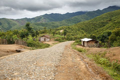 Dirt Road, Chin State, Myanmar Royalty Free Stock Image