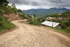 Dirt Road, Chin State, Myanmar Stock Photography