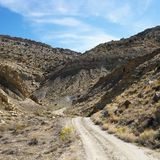 Dirt road in Cottonwood Canyon, Ut Stock Photo