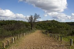 Dirt road on the countryside Royalty Free Stock Photos