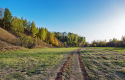 A dirt road in the countryside Stock Images