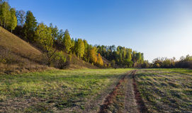 A dirt road in countryside Royalty Free Stock Images