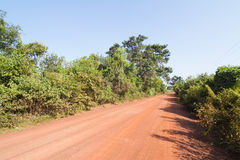 Dirt road in the countryside of Thailand Stock Images