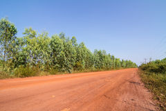 Dirt road in the countryside of Thailand Royalty Free Stock Photos