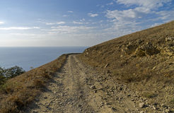 Dirt road in the Crimean mountains. Stock Image