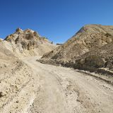 Dirt road in Death Valley. Royalty Free Stock Photo