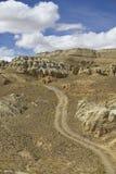 Dirt road on desert Stock Photography