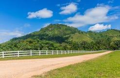 Dirt road. In La Hacienda Park. Dominican Republic Royalty Free Stock Image