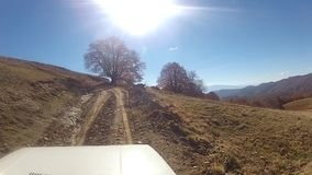 Dirt road driving POV Royalty Free Stock Images