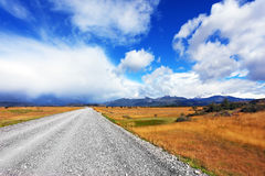 A dirt road in the endless pampas Royalty Free Stock Images