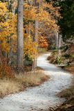 Dirt road in fall. Winding dirt road in fall Stock Photos
