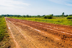 Dirt road in the field Royalty Free Stock Photos