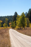 Dirt road in Grand Tetons National Park Stock Photography
