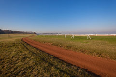 Dirt Road Horse Race Track Stock Image