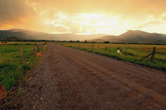 Dirt road in Heber Valley. Royalty Free Stock Images