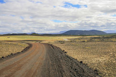 Dirt road in Iceland Stock Photos