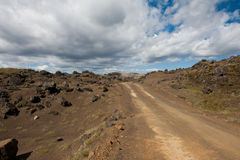 Dirt road in Iceland Royalty Free Stock Photos