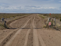 Dirt road. Isaolated dirt road in Patagonia Argentina heading towrds Punta Ninfas Stock Photography