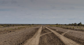 Dirt road. Isaolated dirt road in Patagonia Argentina heading towrds Punta Ninfas Stock Photos