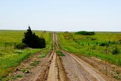 A dirt road in Kansas Royalty Free Stock Photos