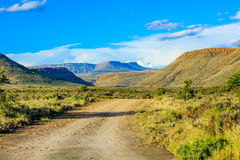 Dirt road in the Karoo National Park, South Africa Royalty Free Stock Images