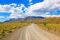 Gravel road in Karoo National Parky Stock Image