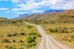 Gravel mountain road Royalty Free Stock Image