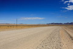 Dirt road. Landscape along a dirt road from Sesriem to Solitaire, Namibia Royalty Free Stock Photography