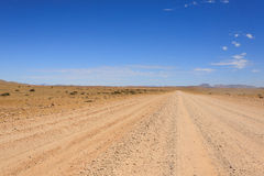 Dirt road. Landscape along a dirt road from Sesriem to Solitaire, Namibia Stock Photography