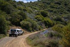 Dirt road leading up to Santiago Peak, Saddleback Mountains, California royalty free stock image