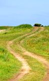 Dirt road leads up Royalty Free Stock Photos