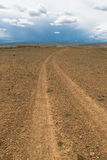 Dirt road leaving to the horizon Stock Image